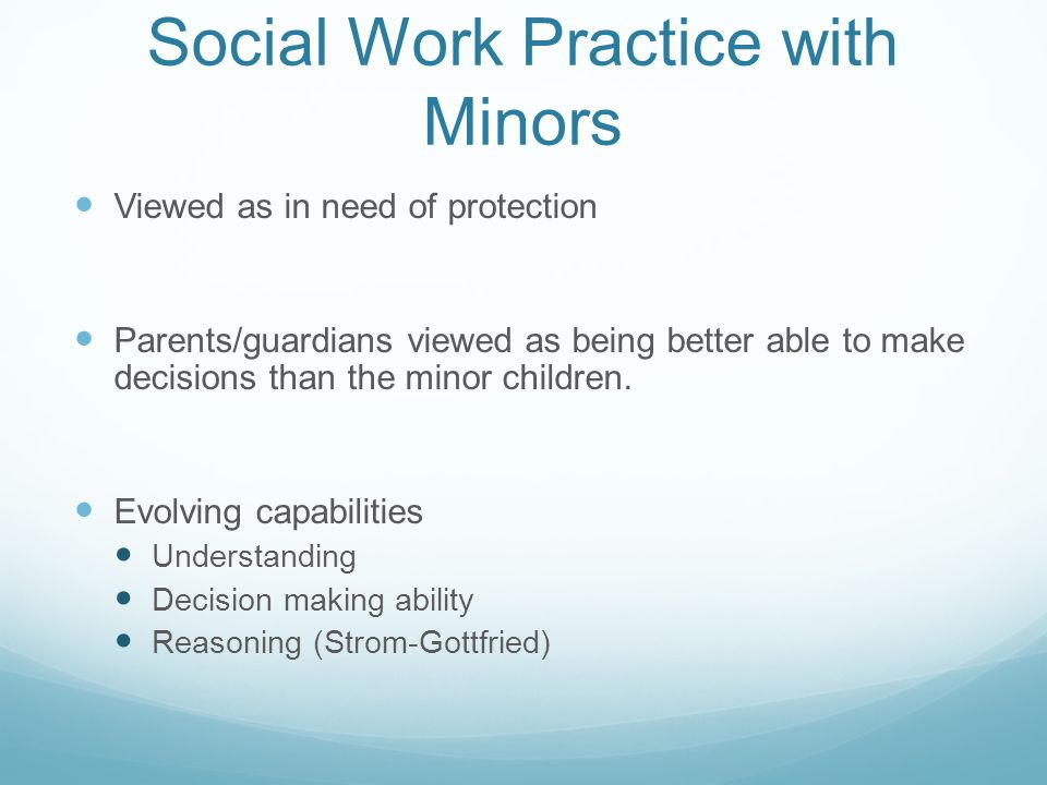 Social Work Practice with Minors