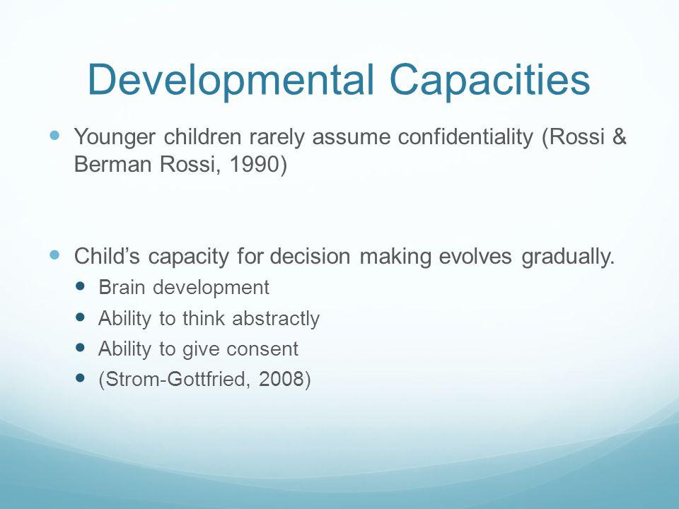 Developmental Capacities