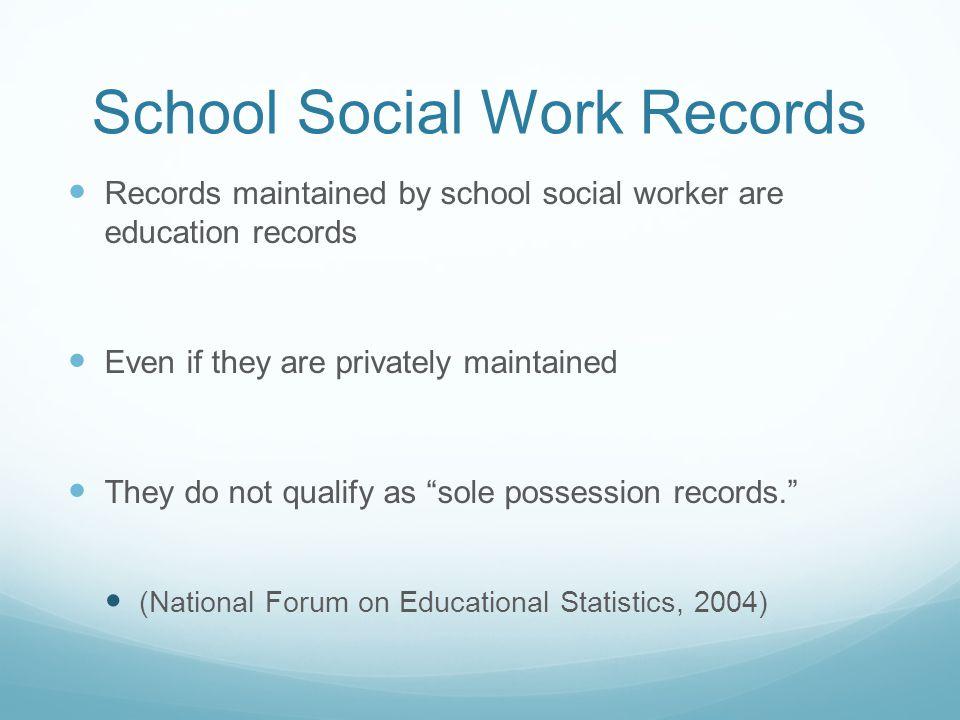 School Social Work Records