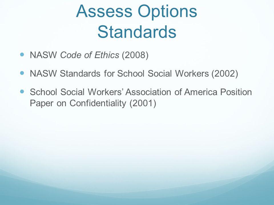 Assess Options Standards