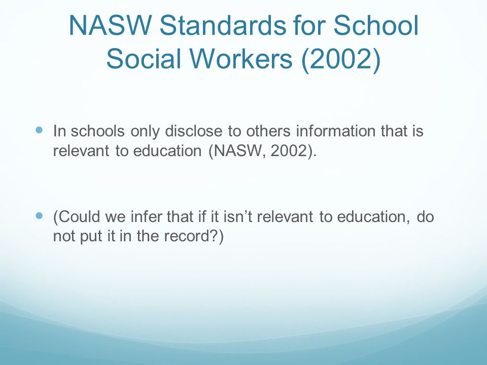 NASW Standards for School Social Workers (2002)