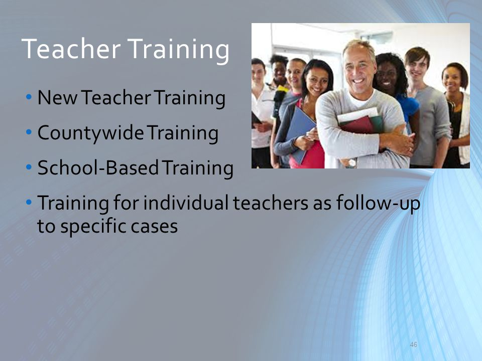 Teacher Training New Teacher Training Countywide Training