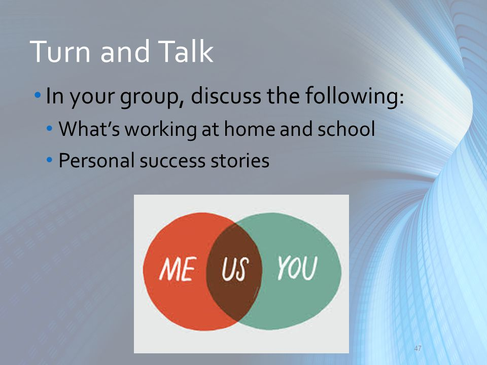Turn and Talk In your group, discuss the following:
