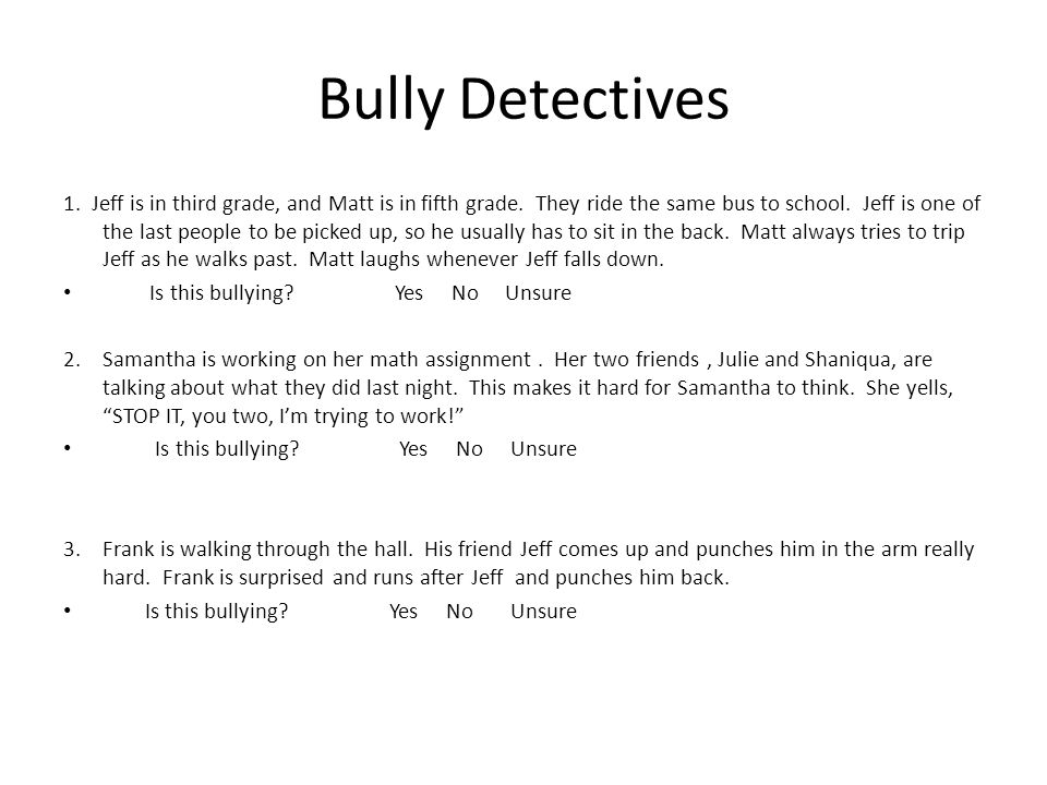 Bully Detectives