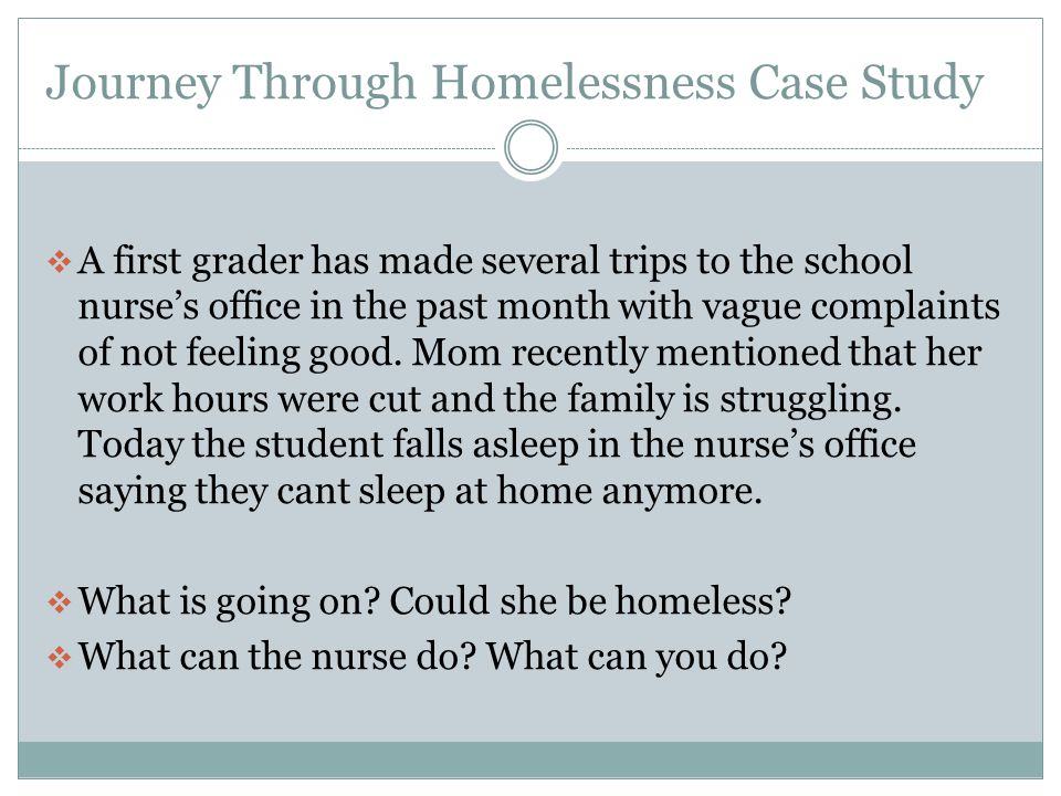 Journey Through Homelessness Case Study