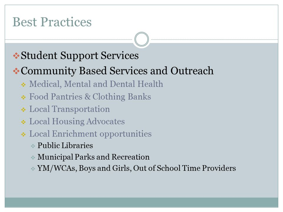 Best Practices Student Support Services
