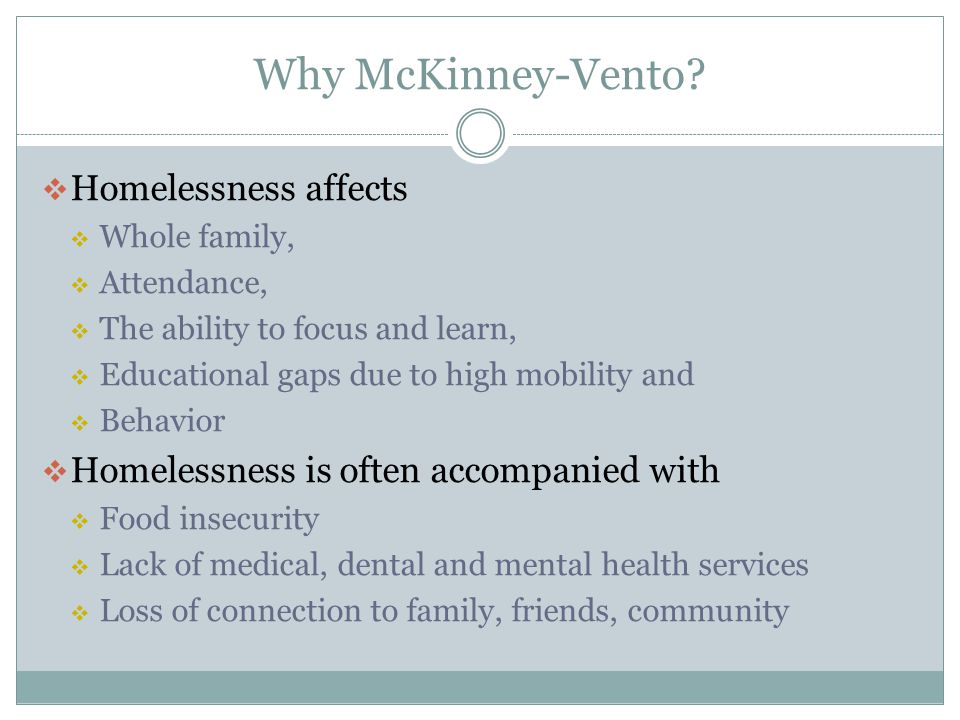 Why McKinney-Vento Homelessness affects