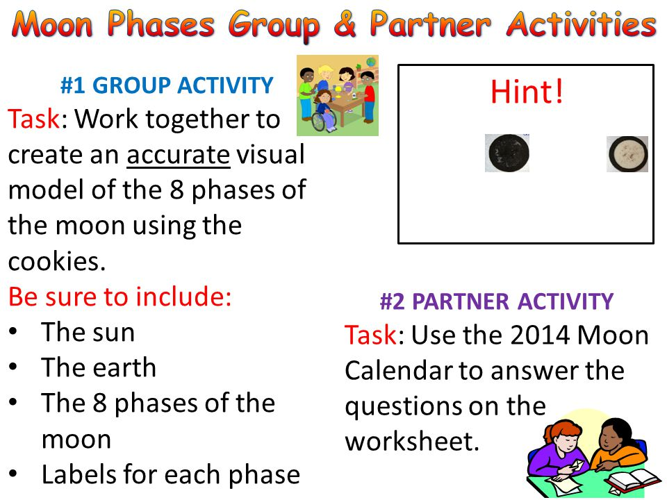 Moon Phases Group & Partner Activities