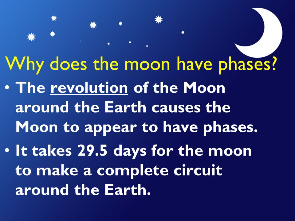 Why does the moon have phases