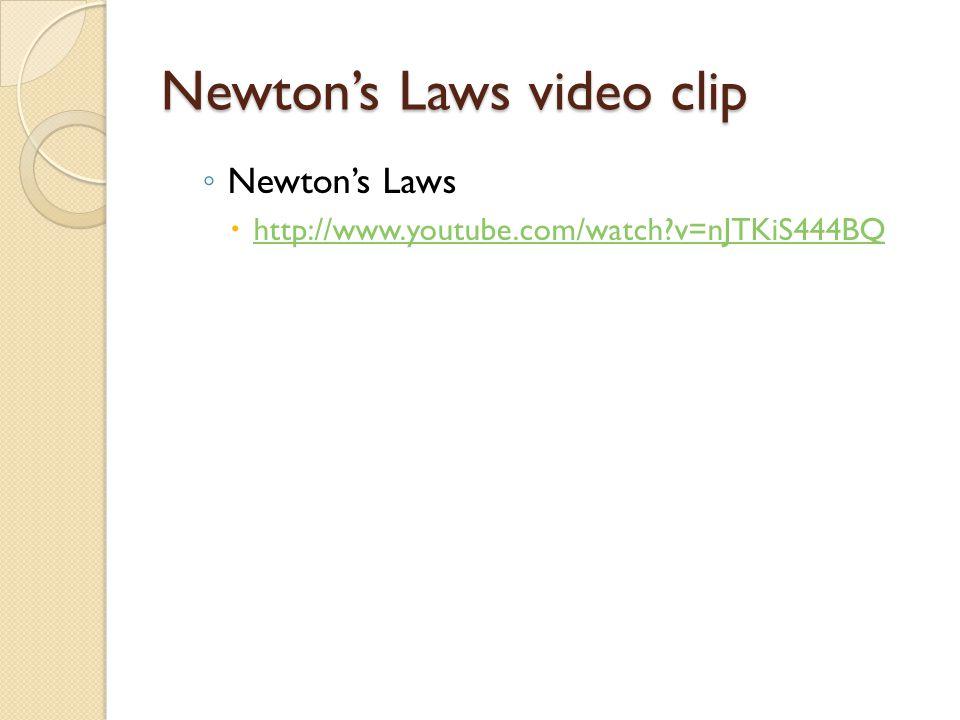 Newton's Laws video clip