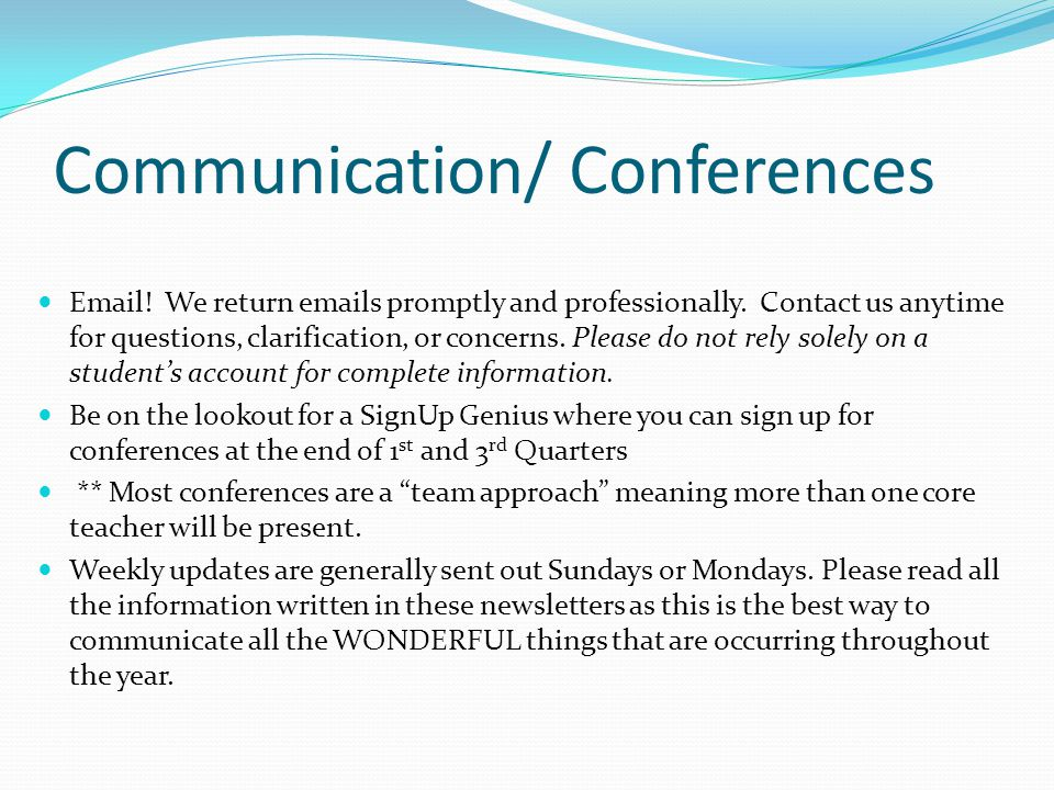 Communication/ Conferences