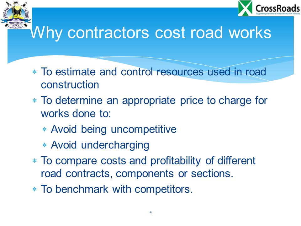 Why contractors cost road works