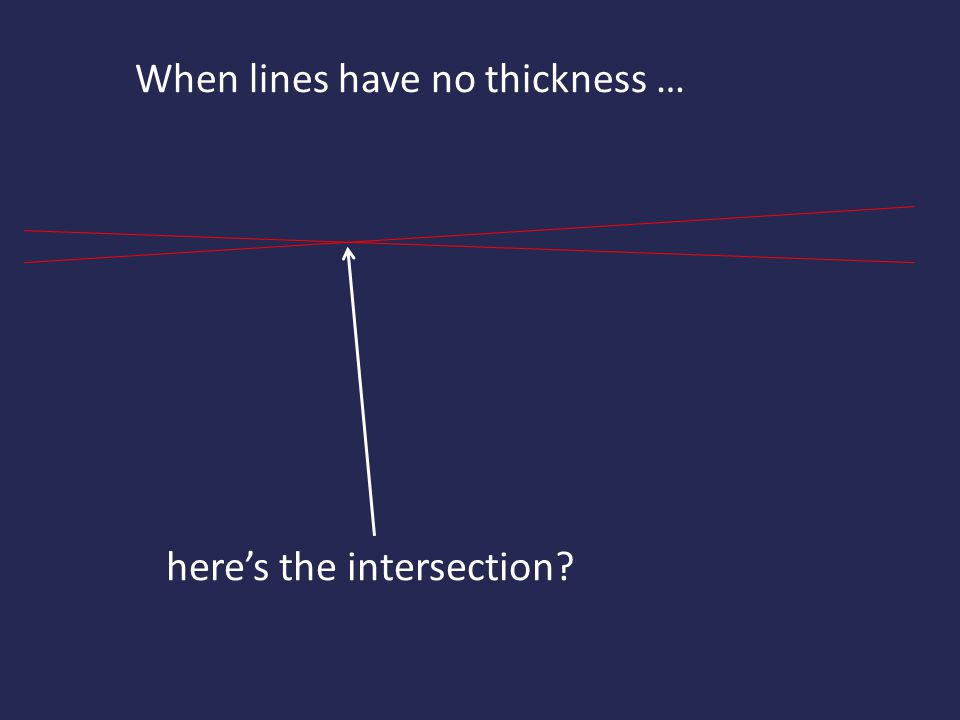 When lines have no thickness …
