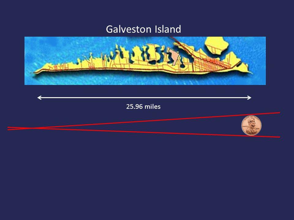 Galveston Island 25.96 miles