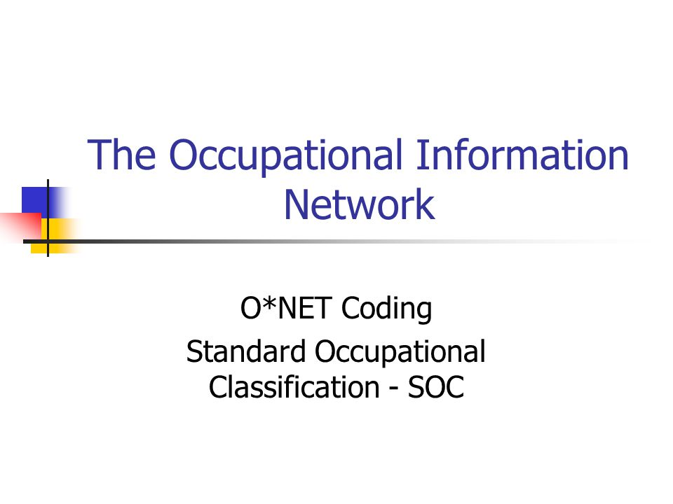 The Occupational Information Network