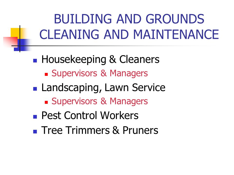 BUILDING AND GROUNDS CLEANING AND MAINTENANCE