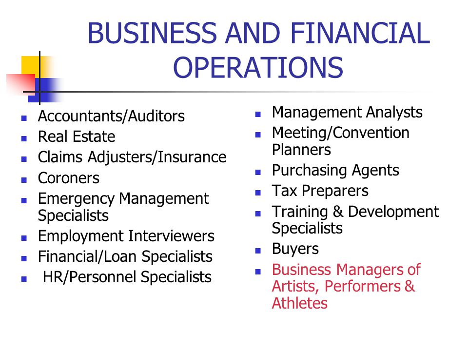 BUSINESS AND FINANCIAL OPERATIONS