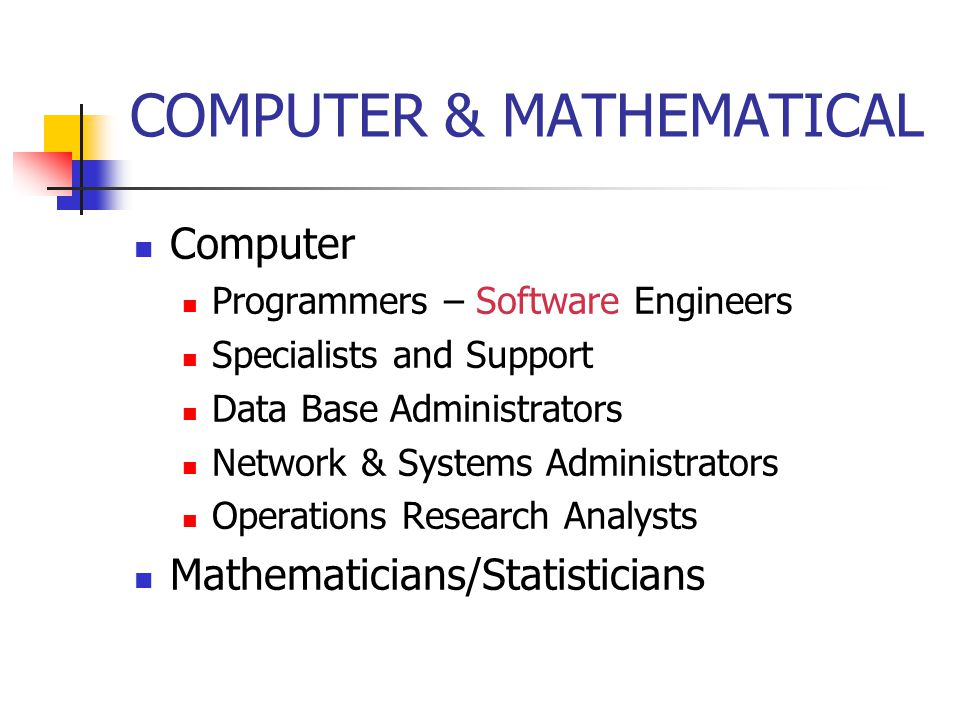 COMPUTER & MATHEMATICAL