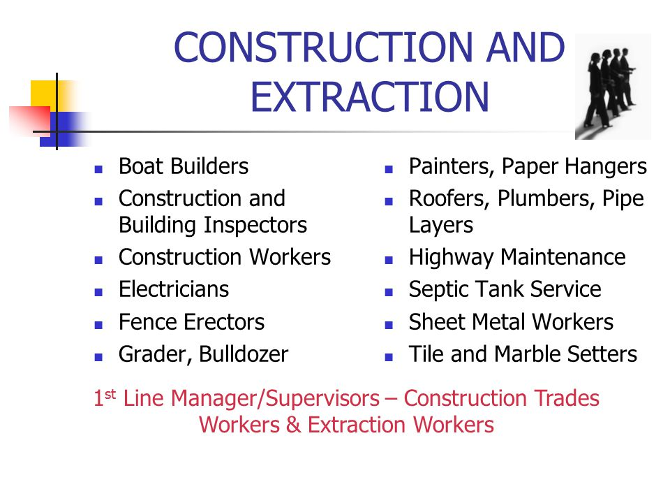 CONSTRUCTION AND EXTRACTION