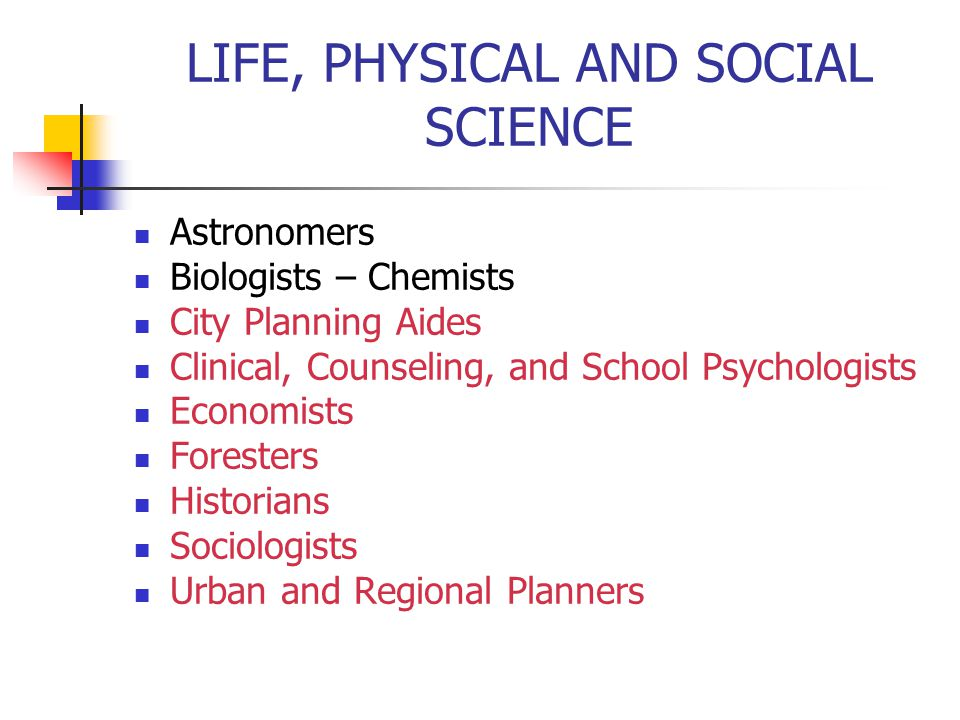LIFE, PHYSICAL AND SOCIAL SCIENCE