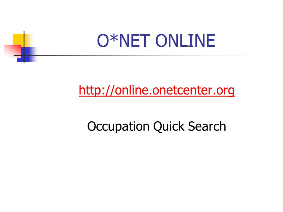 Occupation Quick Search
