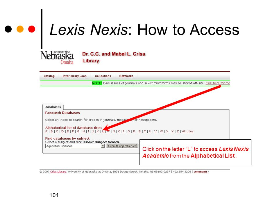 Lexis Nexis: How to Access