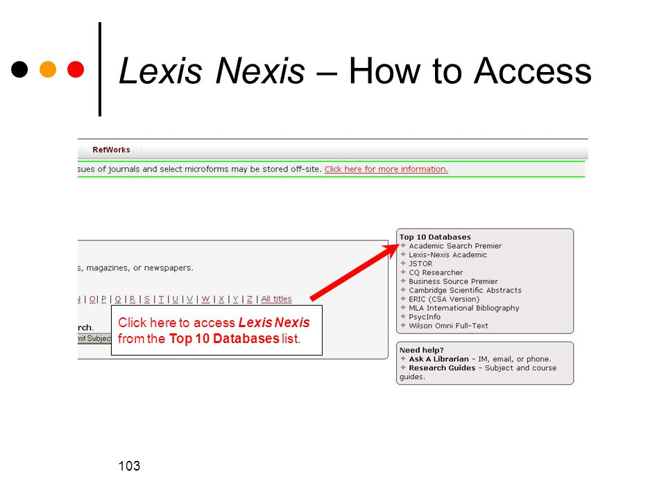 Lexis Nexis – How to Access