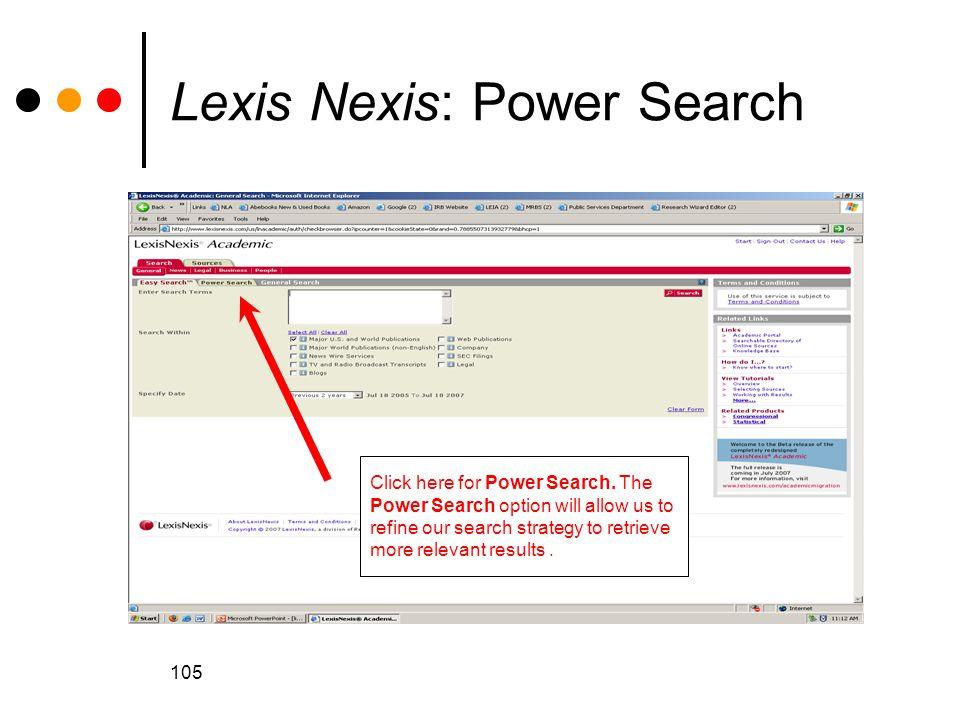 Lexis Nexis: Power Search