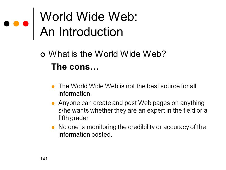 World Wide Web: An Introduction