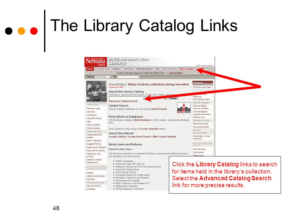 The Library Catalog Links