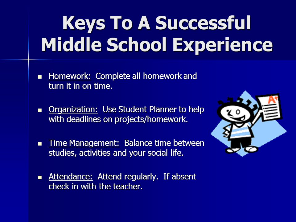 Keys To A Successful Middle School Experience