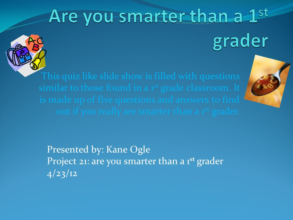 Are You Smarter Than A 5th Grader Powerpoint Template 9485563 Vdyu