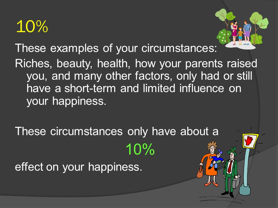 10% 10% These examples of your circumstances: