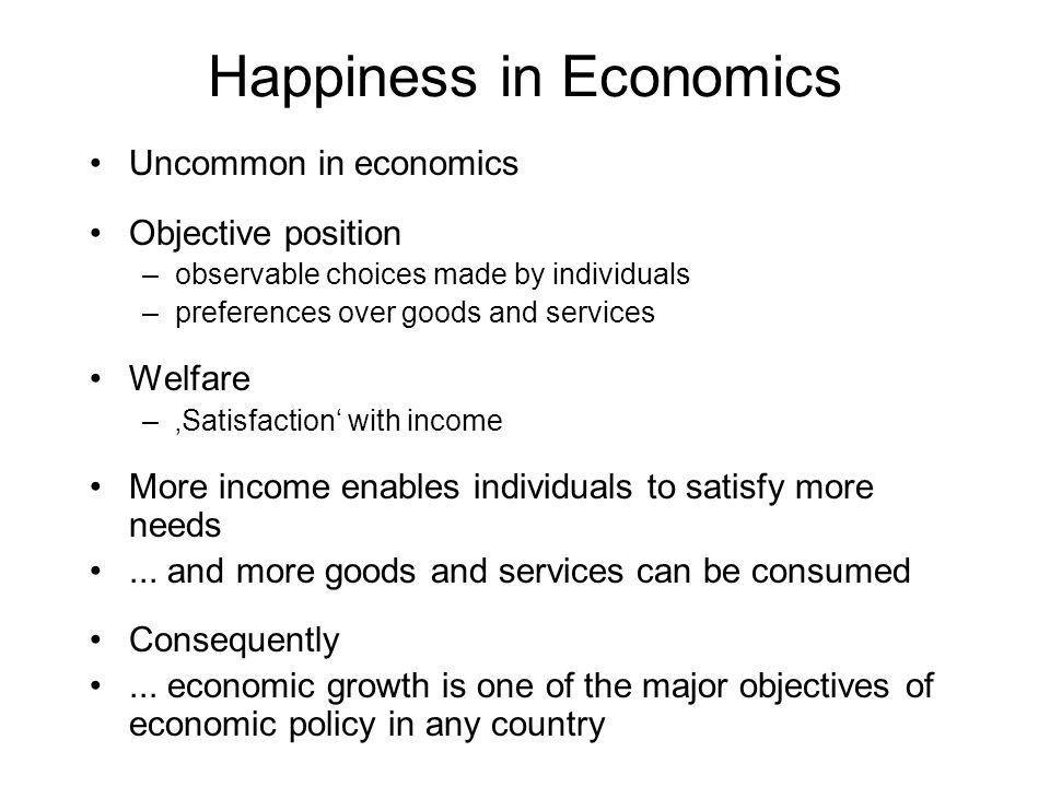 Happiness in Economics