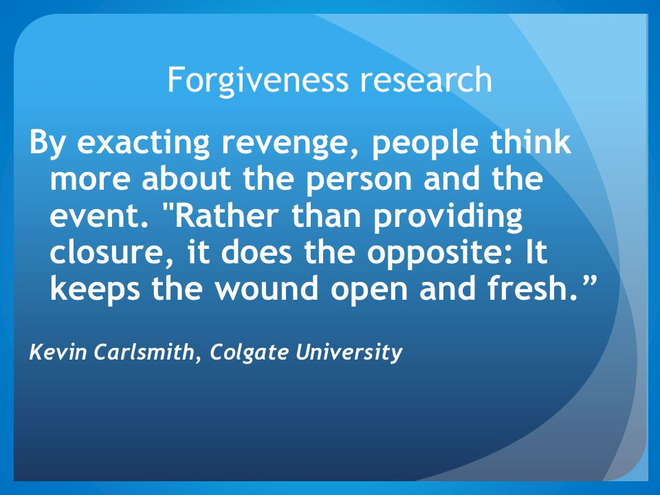 Forgiveness research
