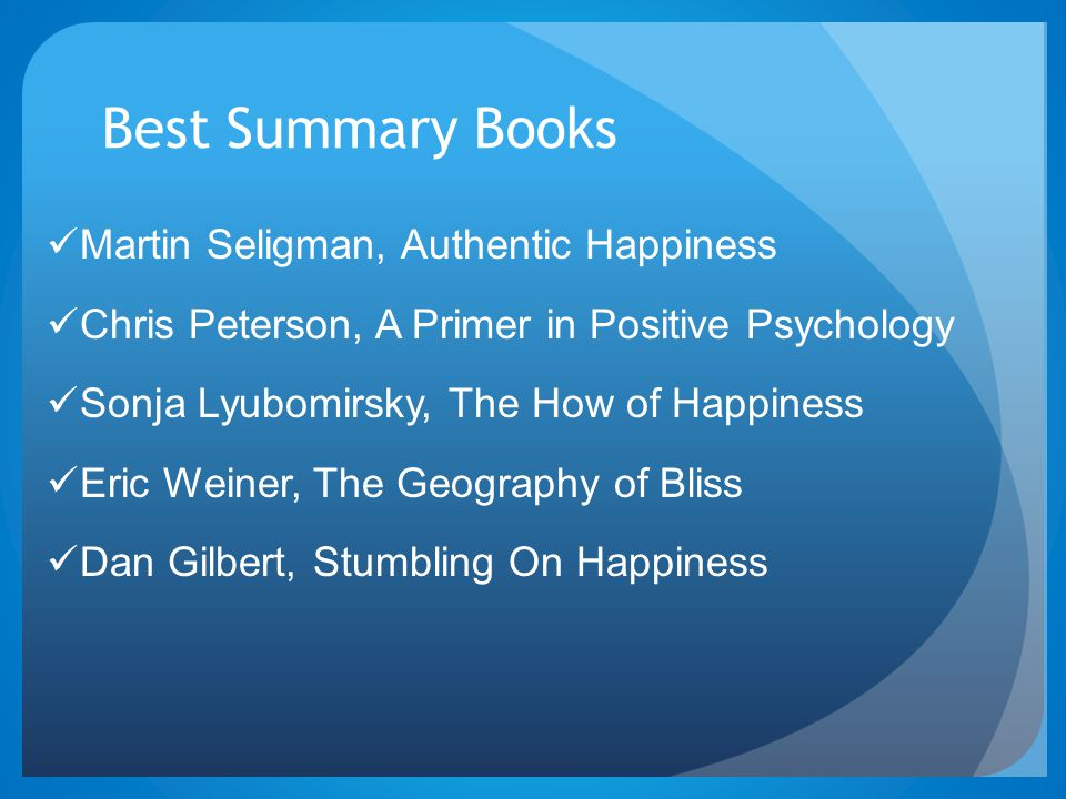 Best Summary Books Martin Seligman, Authentic Happiness