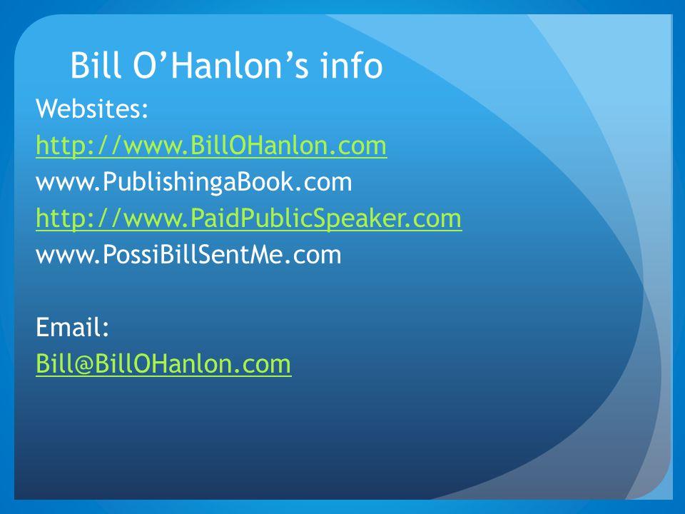Bill O'Hanlon's info