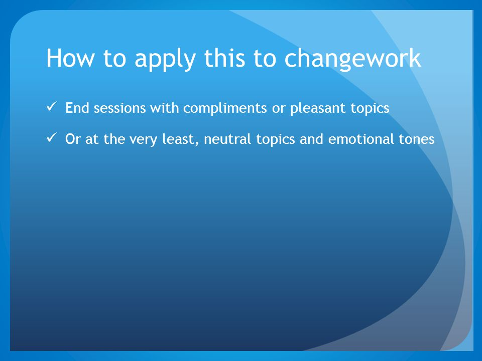 How to apply this to changework