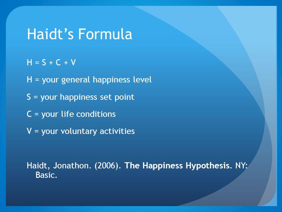 Haidt's Formula