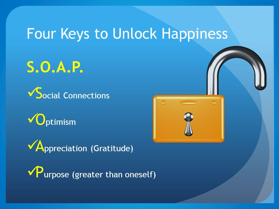 Four Keys to Unlock Happiness