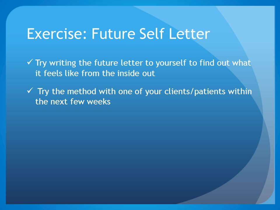 Exercise: Future Self Letter