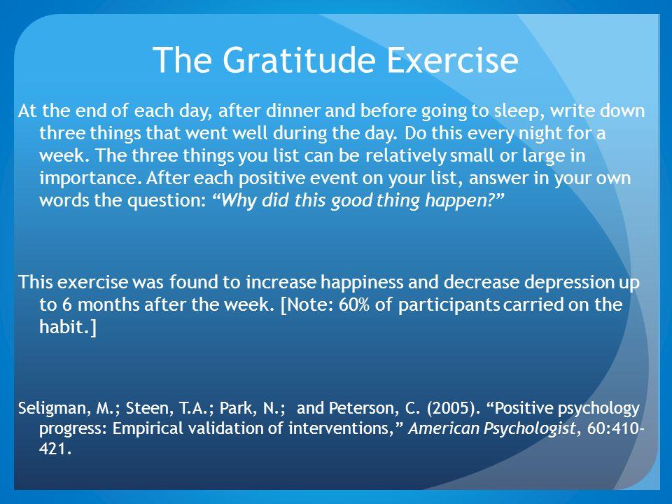 The Gratitude Exercise