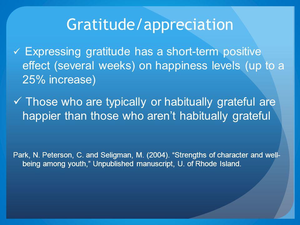 Gratitude/appreciation