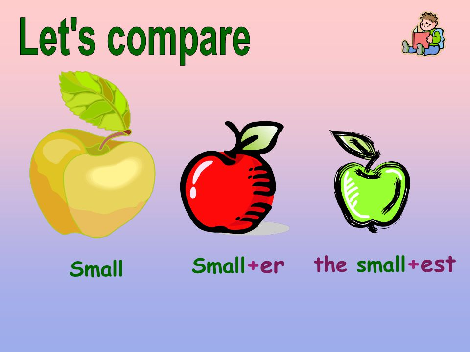 Let s compare Small+er the small+est Small
