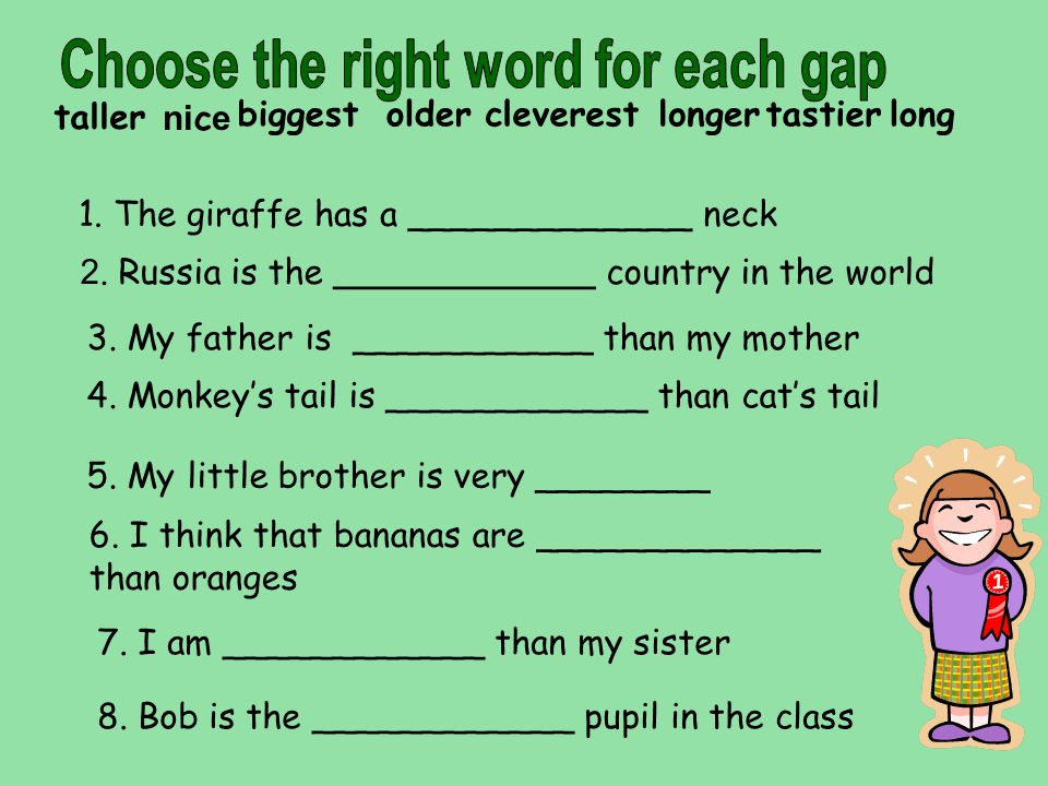 Choose the right word for each gap