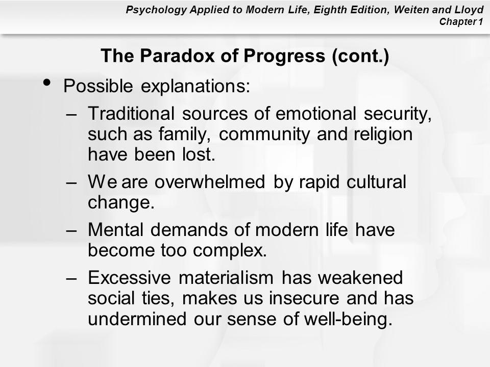 The Paradox of Progress (cont.)