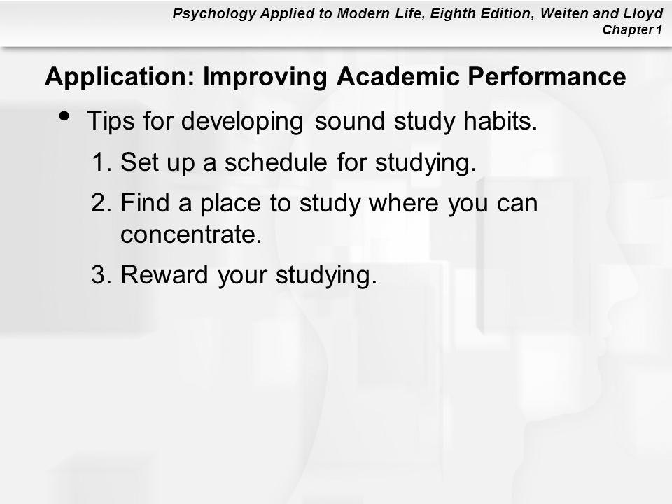 Application: Improving Academic Performance