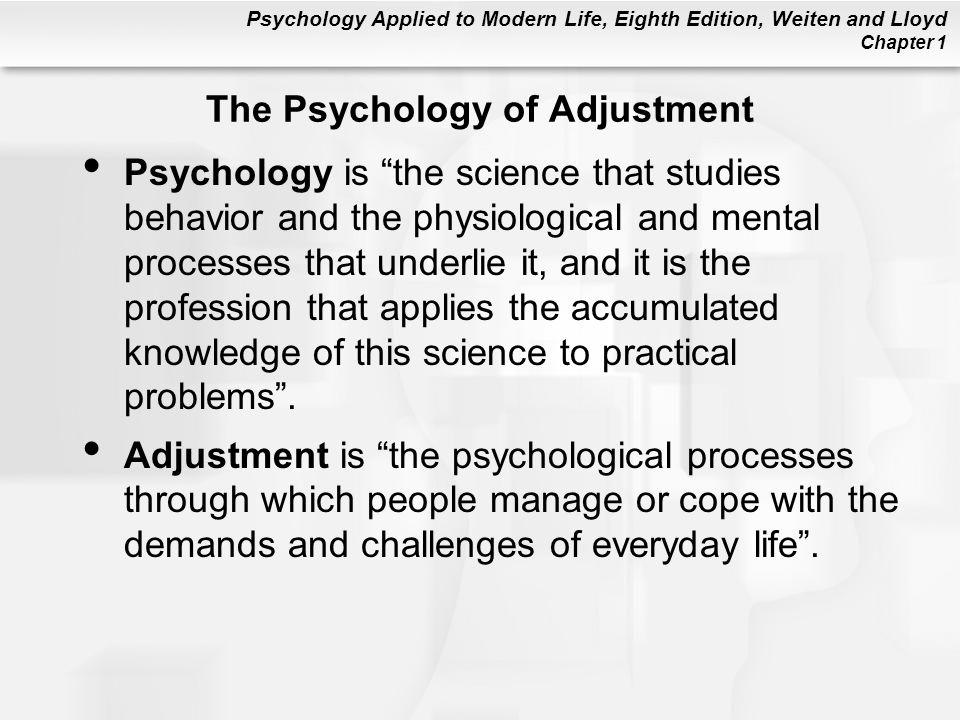 The Psychology of Adjustment