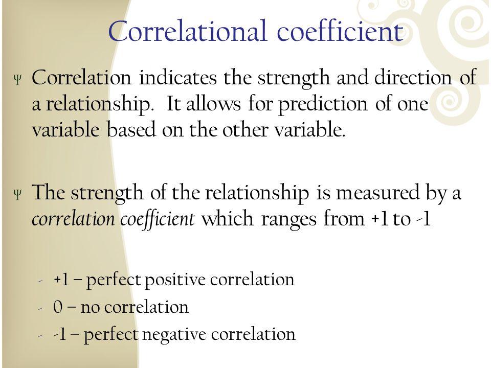 Correlational coefficient
