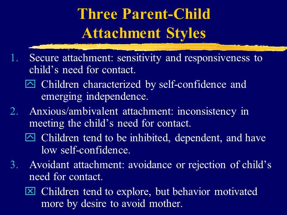 Three Parent-Child Attachment Styles